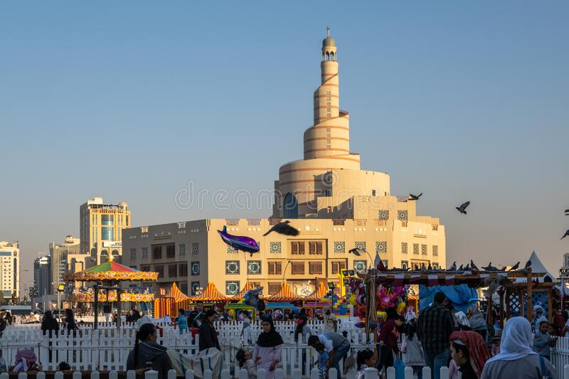 Souq Waqif Doha, Qatar, Oriente Medio imagenes de archivo