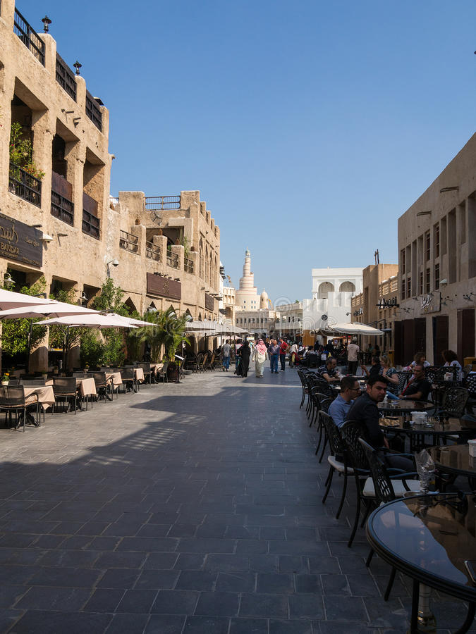 Souq Waqif, Doha, Qatar. Souq Waqif is popular marketplace in Doha, Qatar. The souq is noted for selling traditional garments, spices, handicrafts, and souvenirs royalty free stock photography