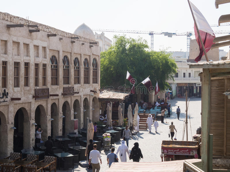 Souq Waqif, Doha, Qatar. Souq Waqif is popular marketplace in Doha, Qatar. The souq is noted for selling traditional garments, spices, handicrafts, and souvenirs royalty free stock photos