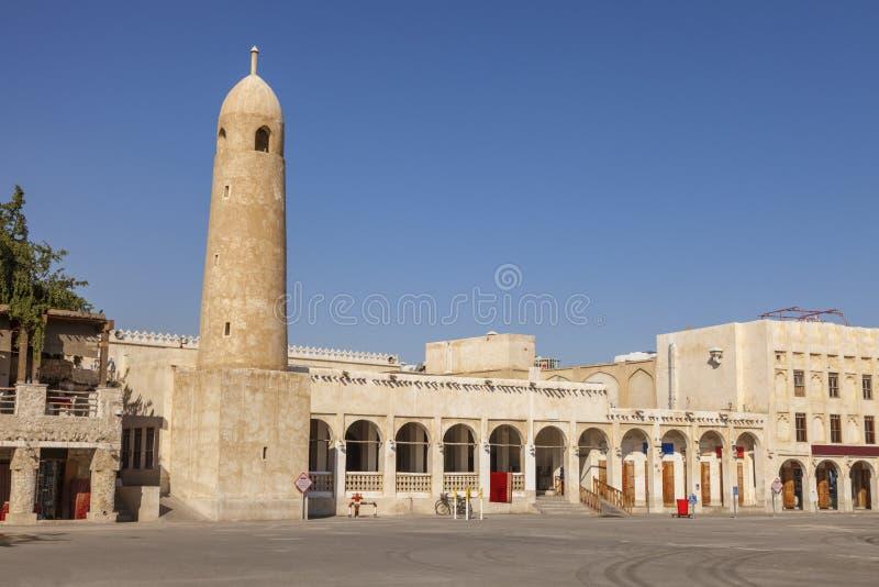 Souq Waqif em Doha foto de stock