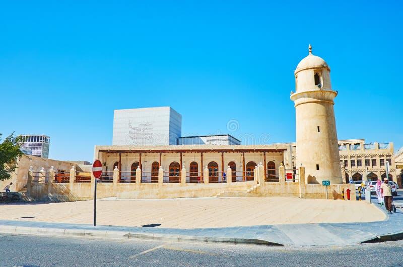 Souq Waqif moské, Doha, Qatar royaltyfria bilder