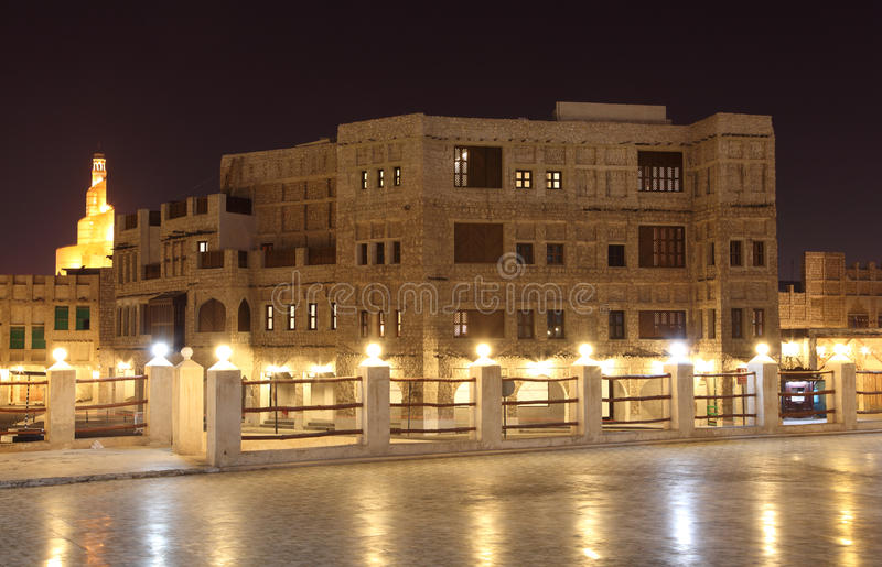 Download Souq Waqif at night, Doha stock photo. Image of evening - 23612338