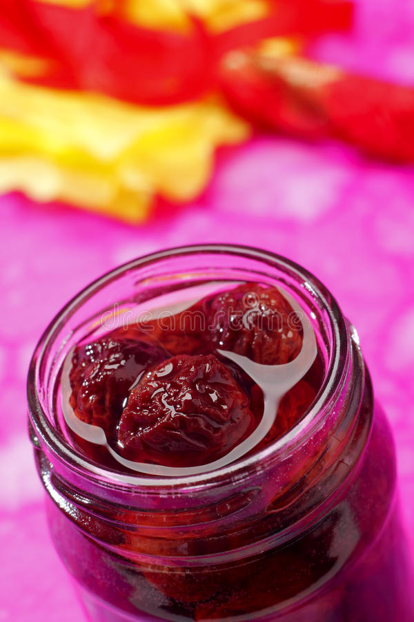 Free Sour Cherry Jam In Jar Royalty Free Stock Image - 16397396