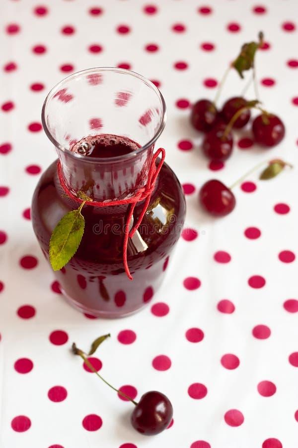 Sour Cherry Juice Stock Photography