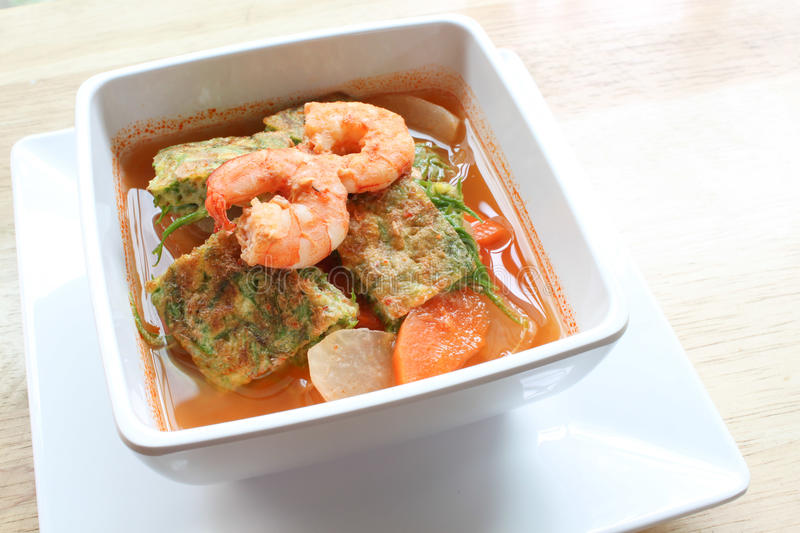 Sour Curry (Kang Som) stock image