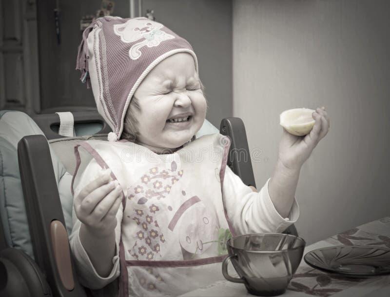 Sour Lemon Expression Stock Images