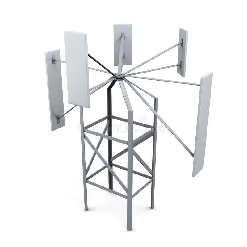 Source énergétique alternative Générateur de vent illustration stock