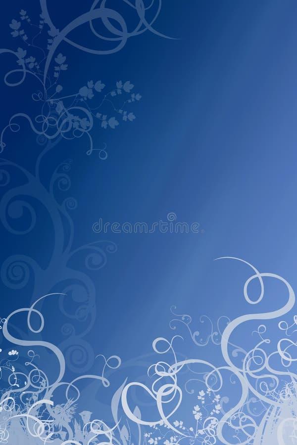 Source bleue profonde florale illustration de vecteur