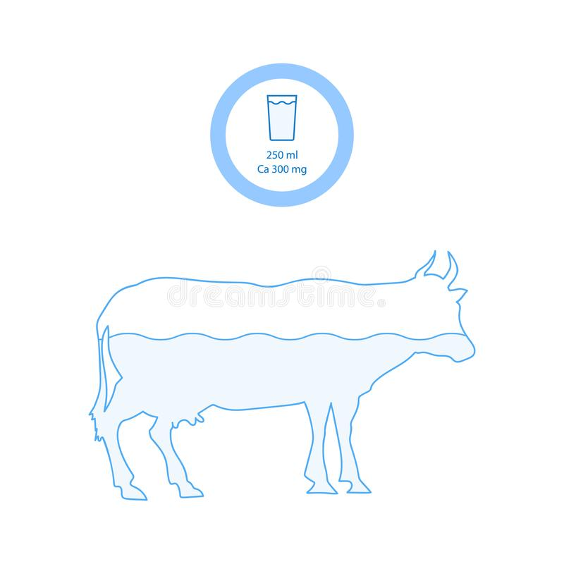 Source of Calcium icon in linear style vector illustration