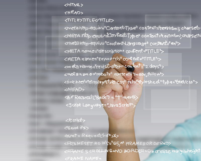 Download Source code stock image. Image of meta, coding, character - 25848837