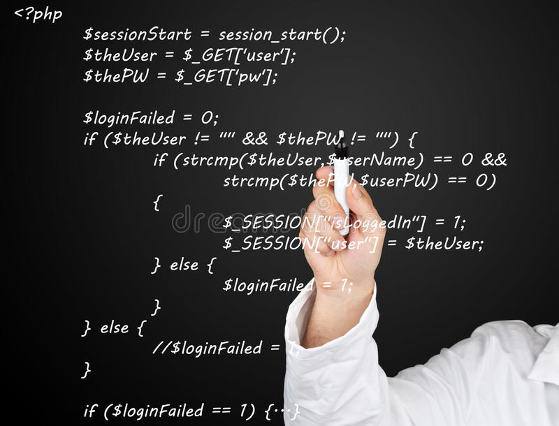 Source code royalty free stock photography