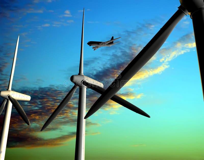 Source d'énergie éolienne illustration de vecteur