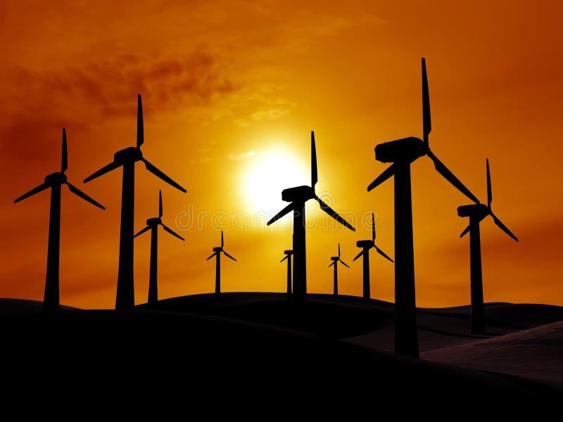 Source d'énergie éolienne illustration stock