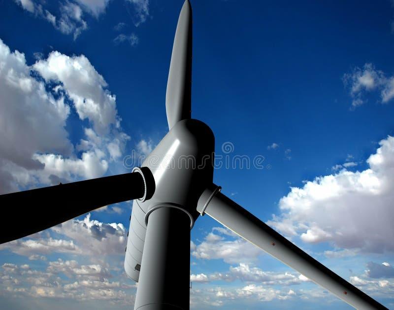 Source d'énergie éolienne illustration libre de droits