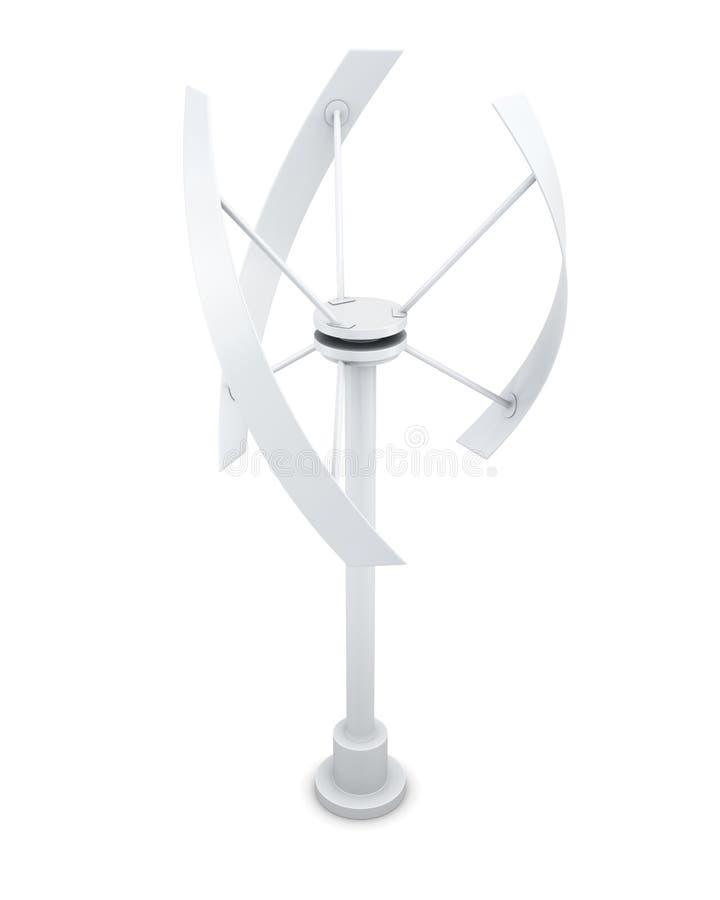 Source d'énergie alternative - générateur de vent rendu 3d illustration stock