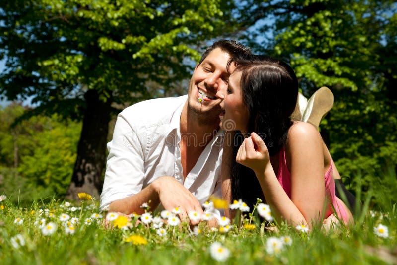 Source d'été de couples d'amour photos libres de droits