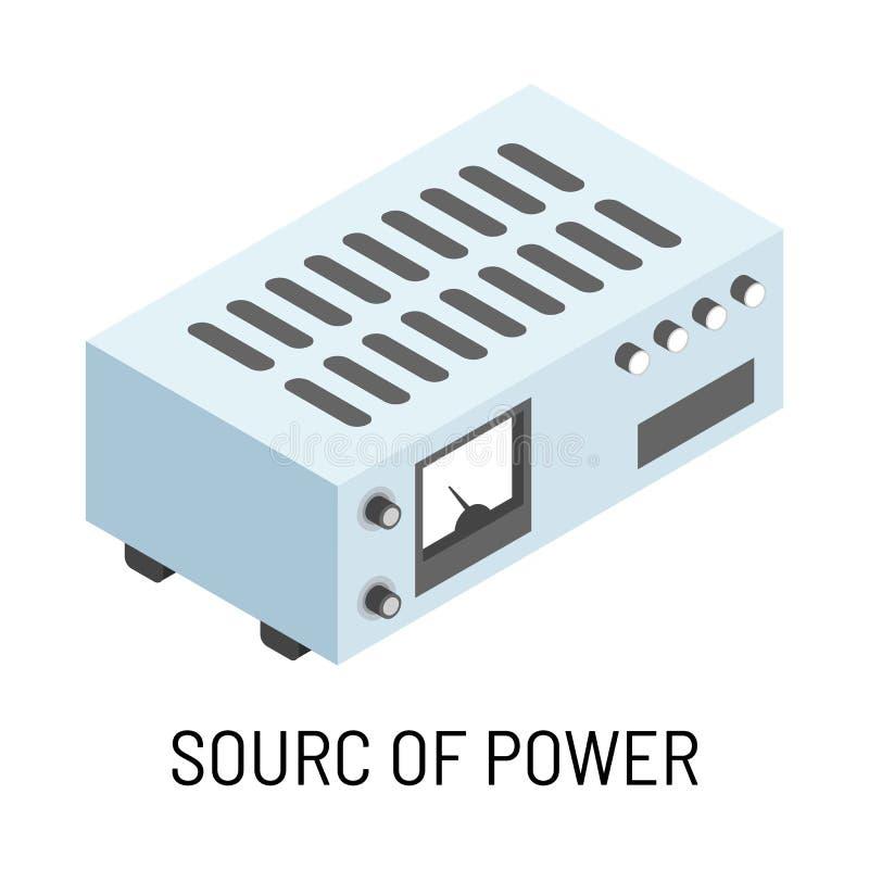 Source d'appareil électrique d'isolement par accumulateur de puissance illustration stock