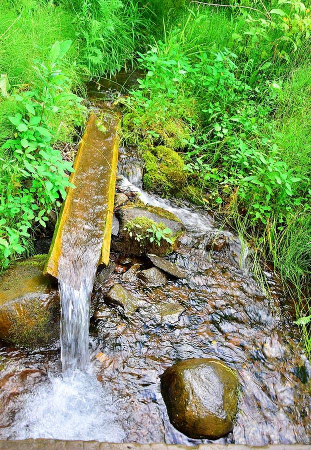 Source d'eau potable naturelle photo libre de droits
