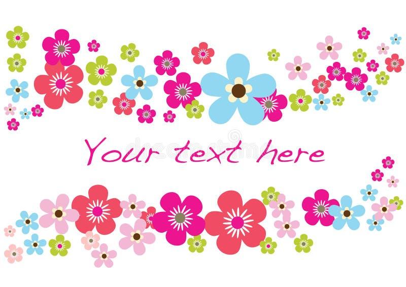 source de fleur de carte illustration stock