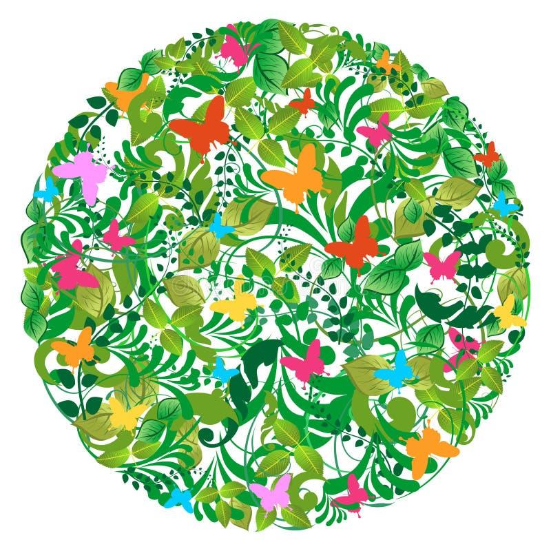 Source de forêt et configuration vertes d'été illustration de vecteur