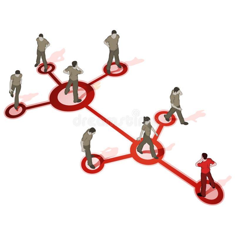 Source de foule - gestion de réseau illustration libre de droits