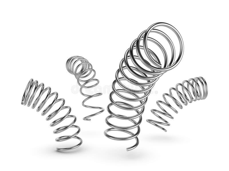 Source en métal sur le fond blanc illustration stock