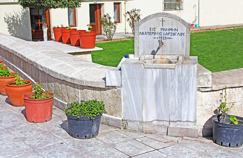 The source of holy water on the site of Church, Istanbul royalty free stock photo