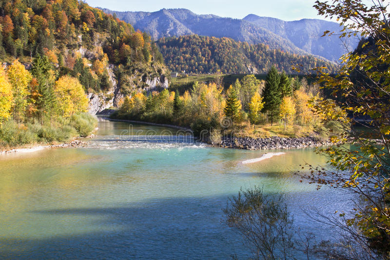 Source of the River Isar stock photo