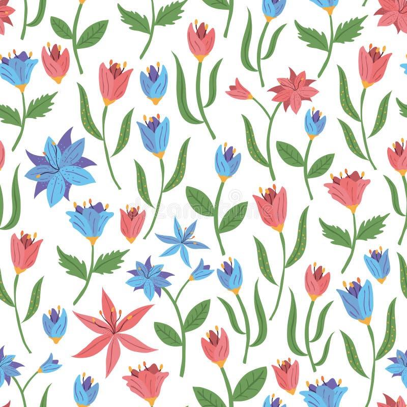 source sans joint de configuration de fleurs Illustration de vecteur photo stock