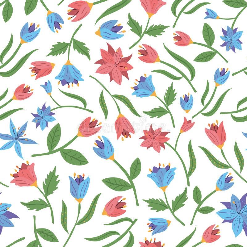 source sans joint de configuration de fleurs Illustration de vecteur photographie stock libre de droits