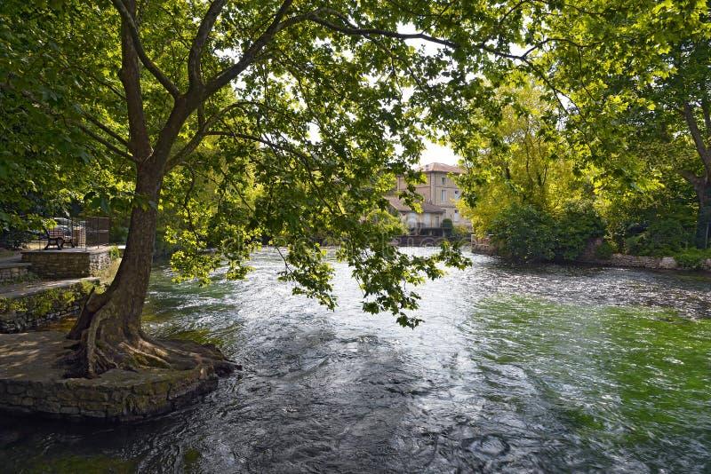 Fontaine de Vaucluse in France stock photos