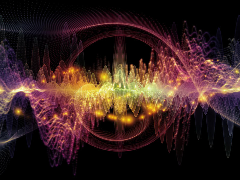 Source of Sound Wave stock illustration