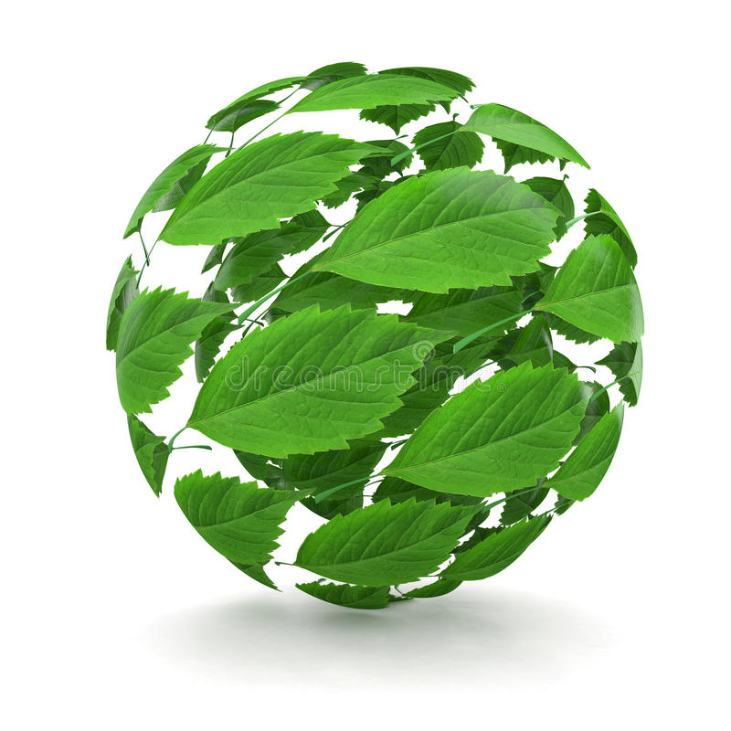 Source. Sphère de lame verte. 3d illustration libre de droits