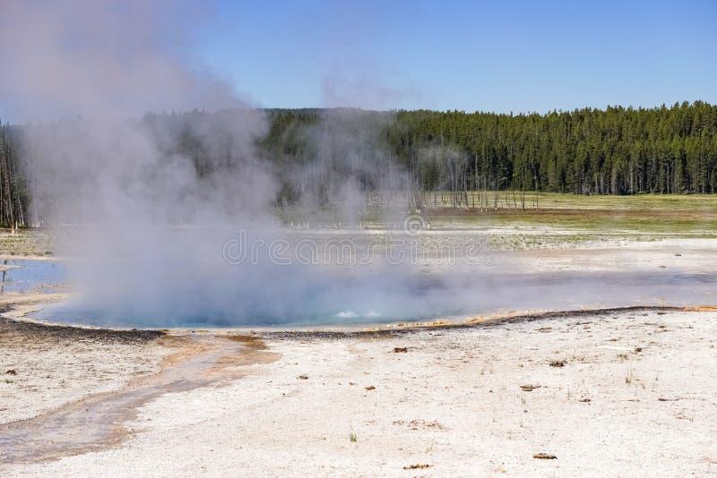 Source thermale au pot de peinture de fontaine/au bassin inférieur de geyser, parc national de Yellowstone photos libres de droits