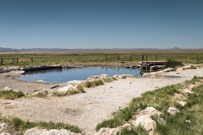Source thermale de désert en Utah images stock