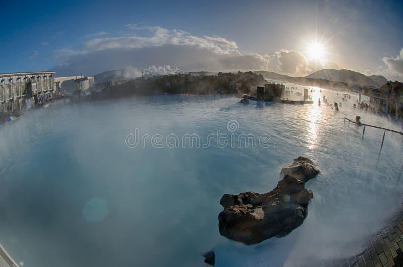 Source thermale de lagune bleue de l'Islande photos stock