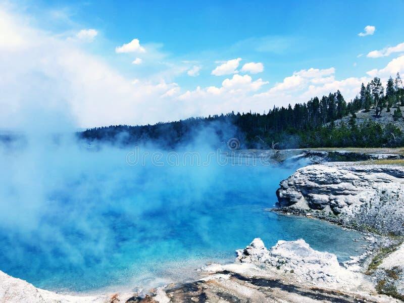 Source thermale en parc national de Yellowstone photos stock