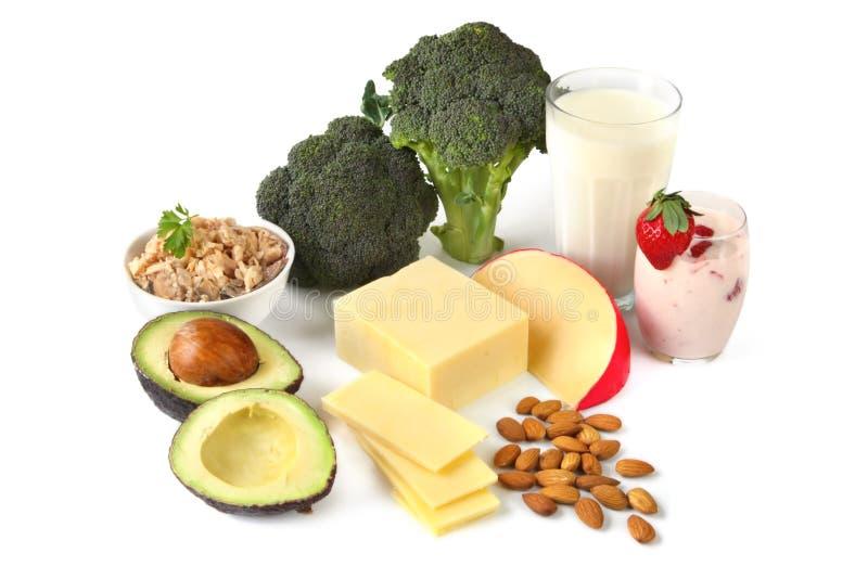 Sources de calcium photo libre de droits