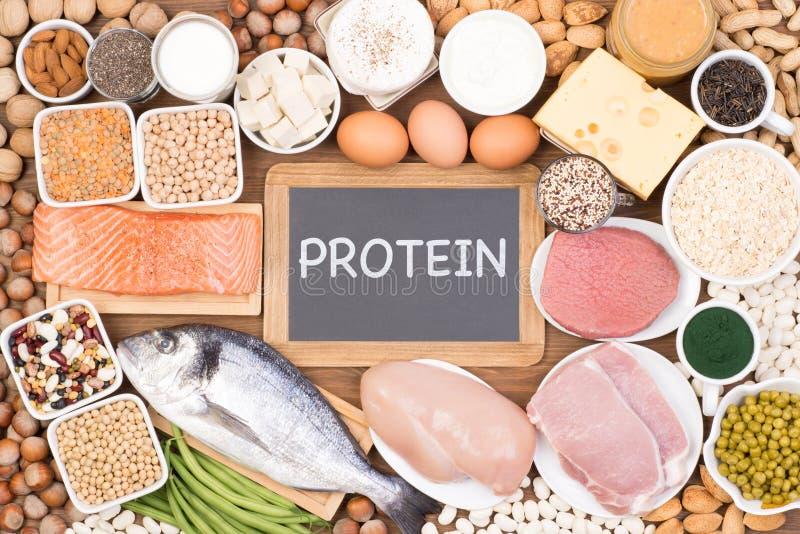 Sources de nourriture de protéine photo libre de droits