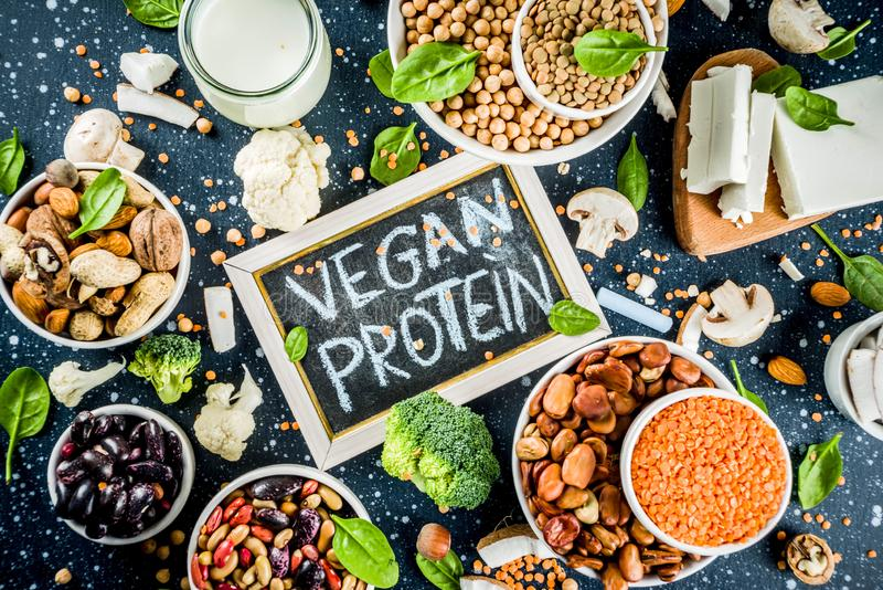 Sources de prot?ine v?g?tale de Vegan photo stock