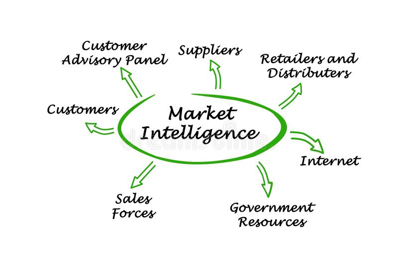 Market Intelligence vector illustration