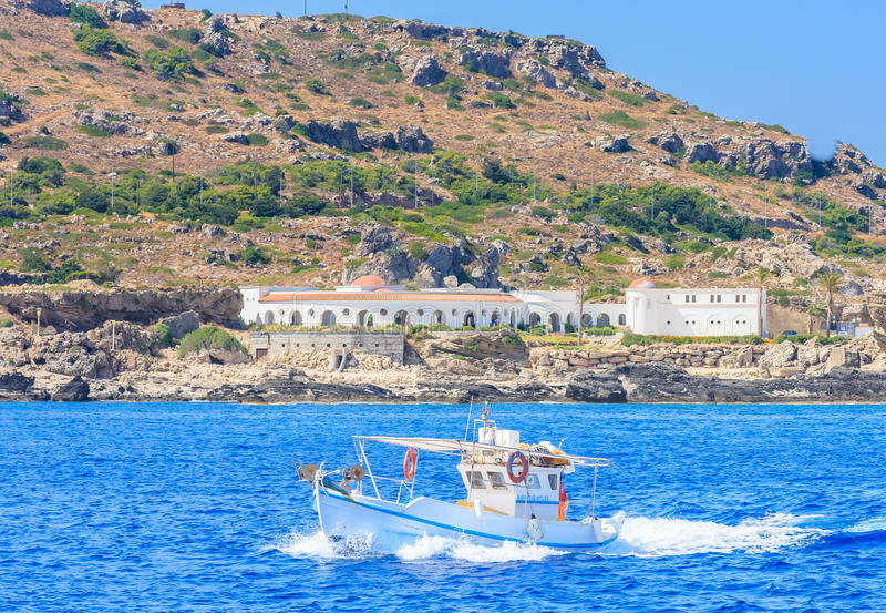 Sources Kallithea (Terme Kalithea) Île de Rhodes La Grèce photos stock