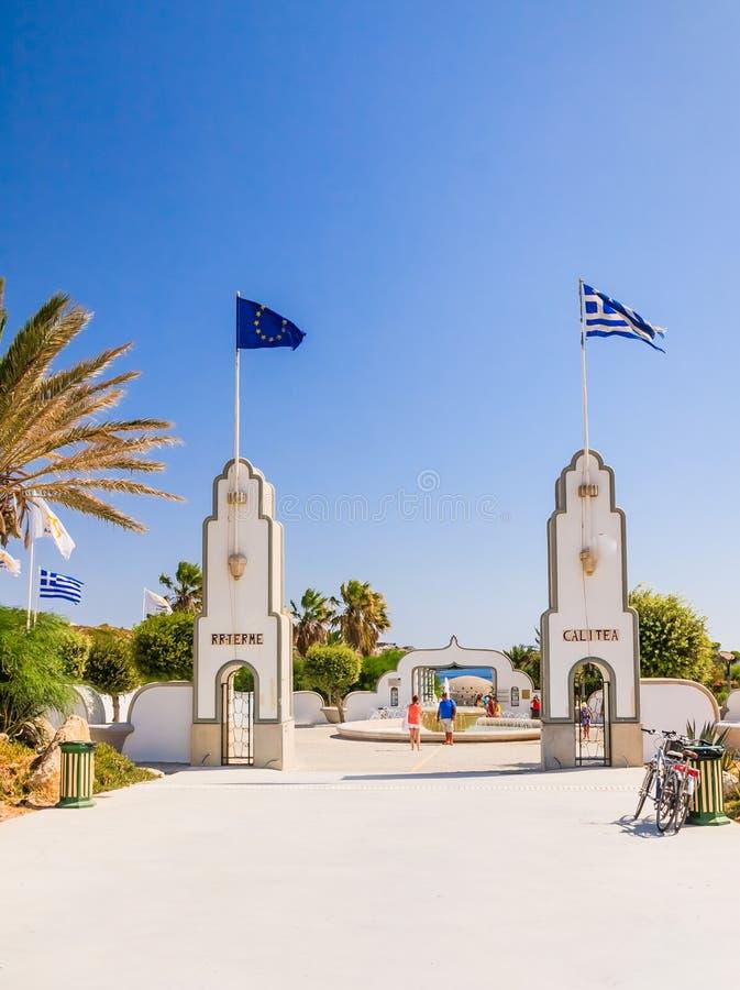 Sources Kallithea (Terme Kalithea) Île de Rhodes La Grèce images stock