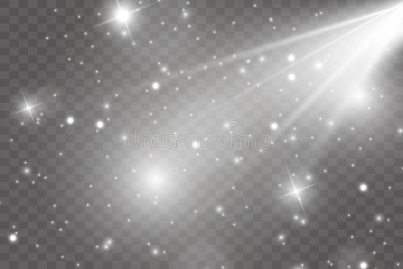 Sources lumineuses, ?clairage de concert, projecteurs Projecteur de concert avec la poutre illustration libre de droits