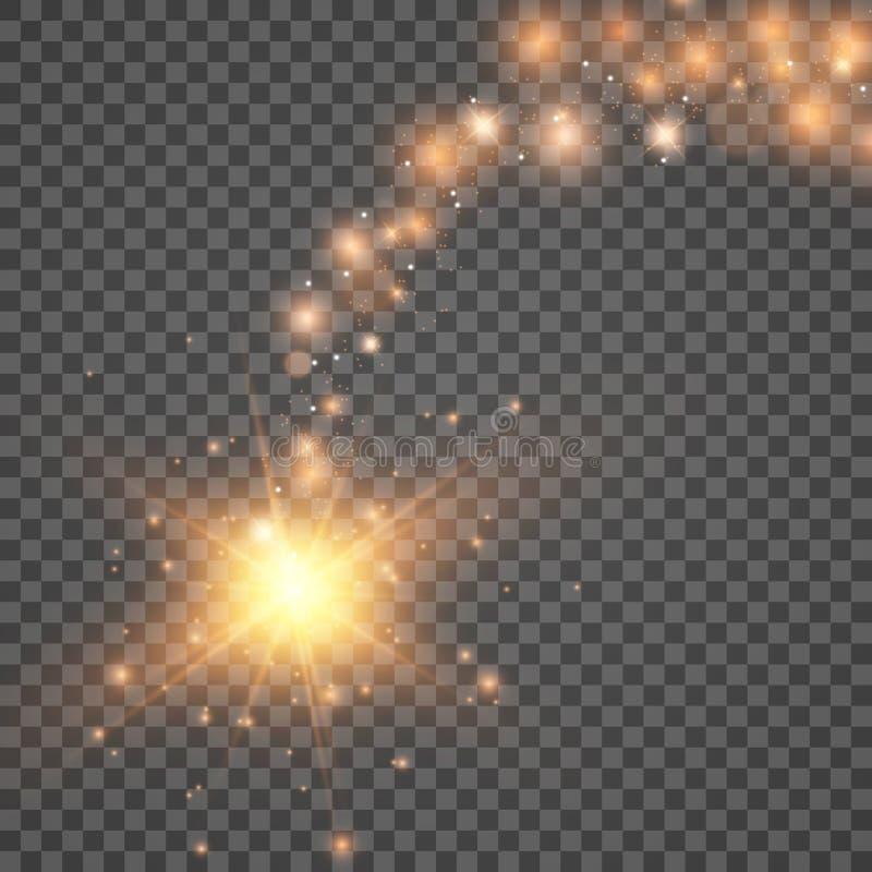 Sources lumineuses, ?clairage de concert, projecteurs Projecteur de concert avec la poutre illustration stock