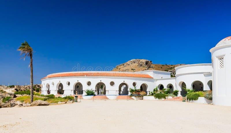 Sources thermales de Kallithea (Terme Kalithea) Île de Rhodes photographie stock