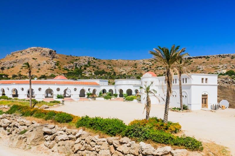 Sources thermales de Kallithea (Terme Kalithea) Île de Rhodes photos stock