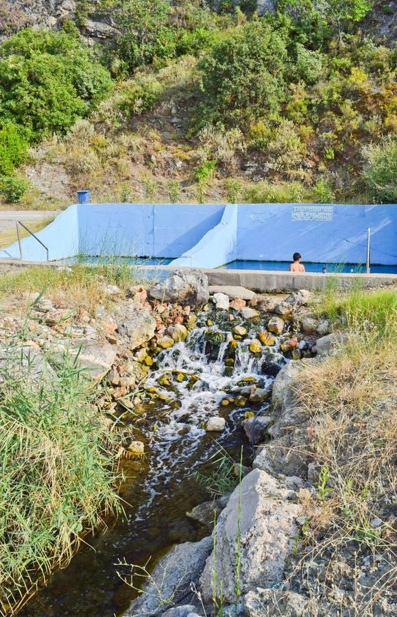 Sources thermales de Kamena Vourla photos stock