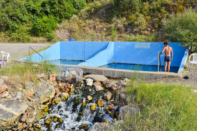 Sources thermales Kamena Vourla image libre de droits