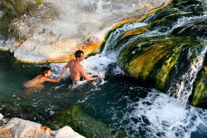 Sources thermales naturelles, Thermopylae photographie stock libre de droits